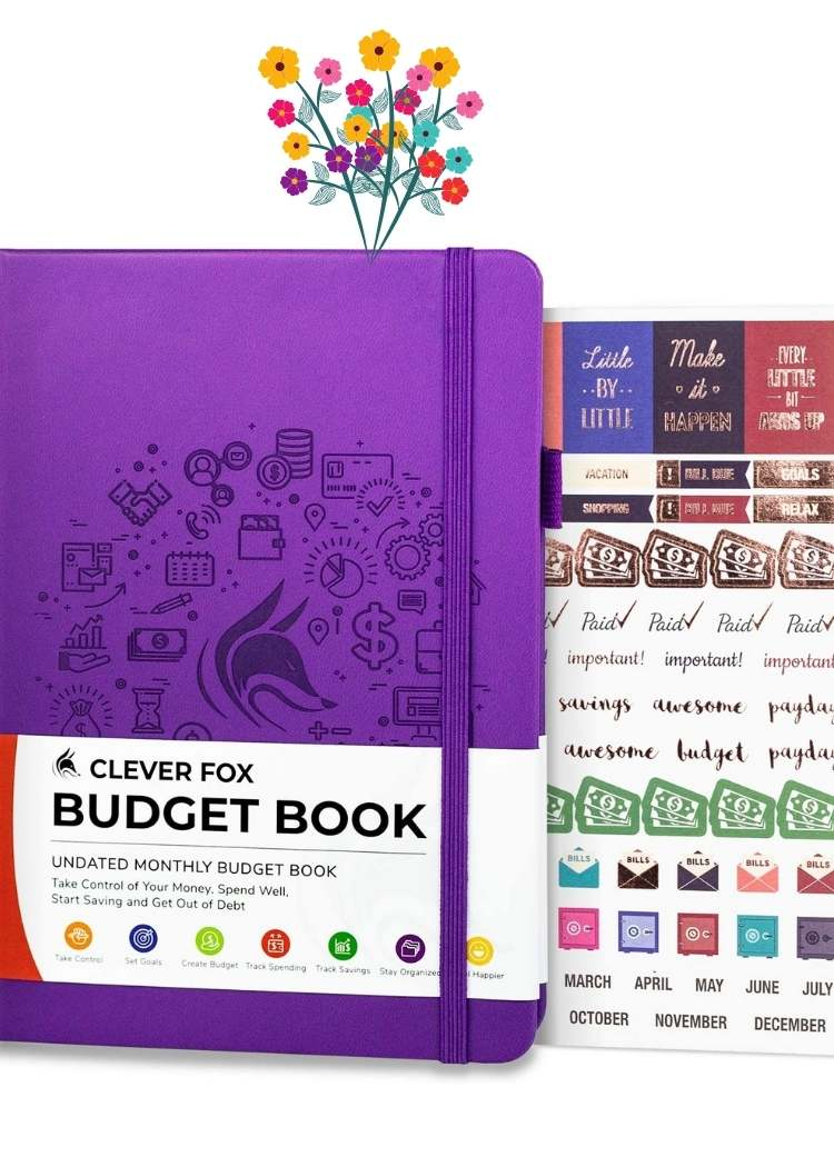 Budgeting journal with slickers