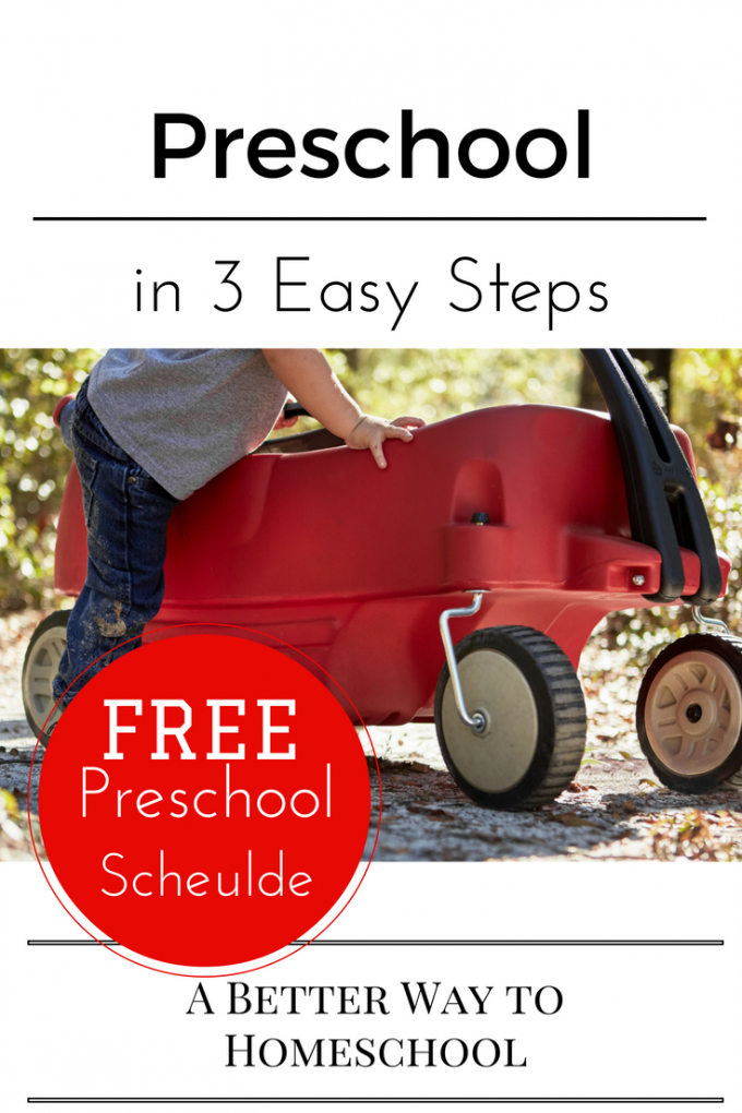 Preschool in 3 Easy Steps
