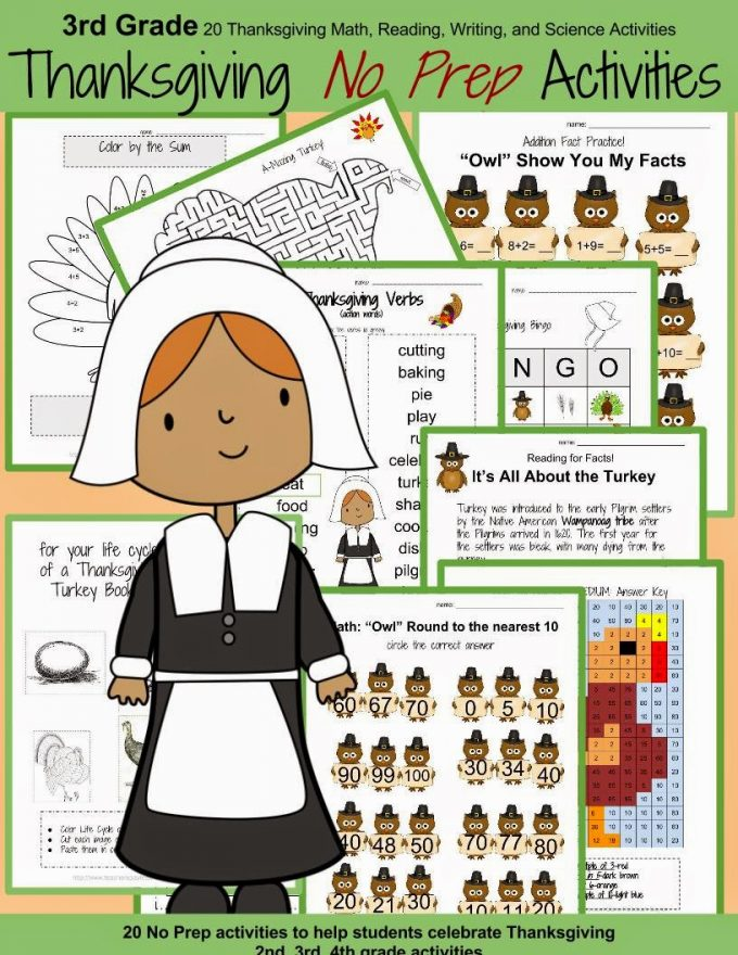 http://www.teacherspayteachers.com/Product/Thanksgiving-No-Prep-3rd-Grade-Math-Reading-and-Science-Activities-1524016