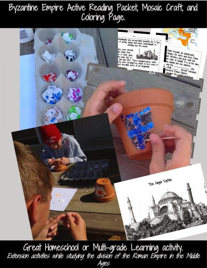 http://www.teacherspayteachers.com/Product/Byzantine-Empire-Eastern-Roman-Empire-Mosaics-Craft-Reading-Activities-More-1475864
