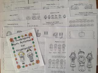 http://www.teacherspayteachers.com/Product/21-Thanksgiving-Math-Activities-for-Kindergarten-979059