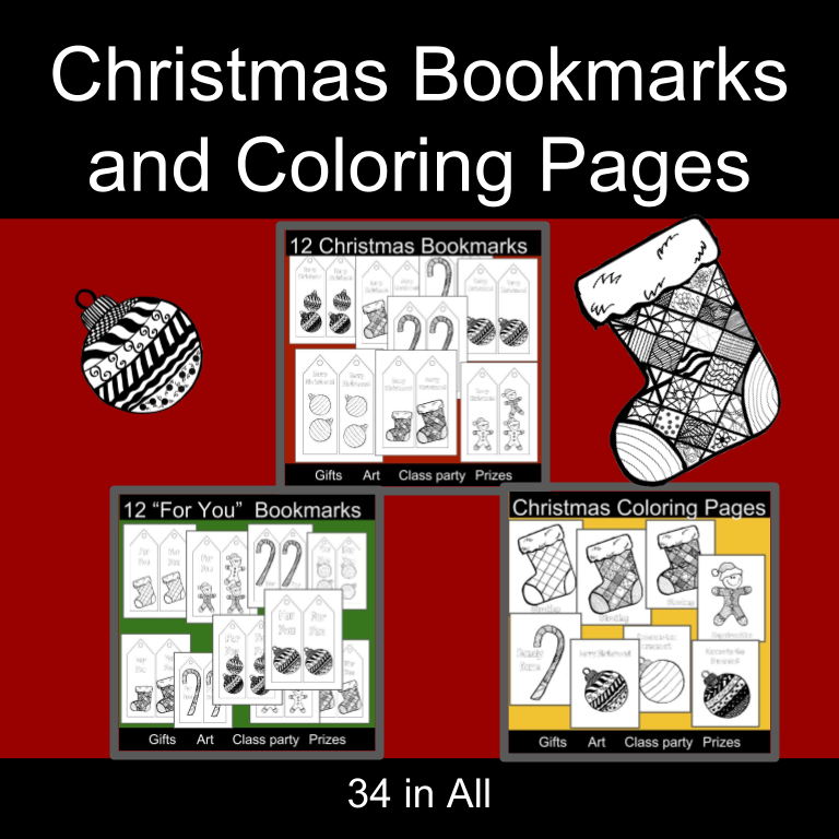 Christmas Bookmarks And Coloring Pages A Better Way To Homeschool