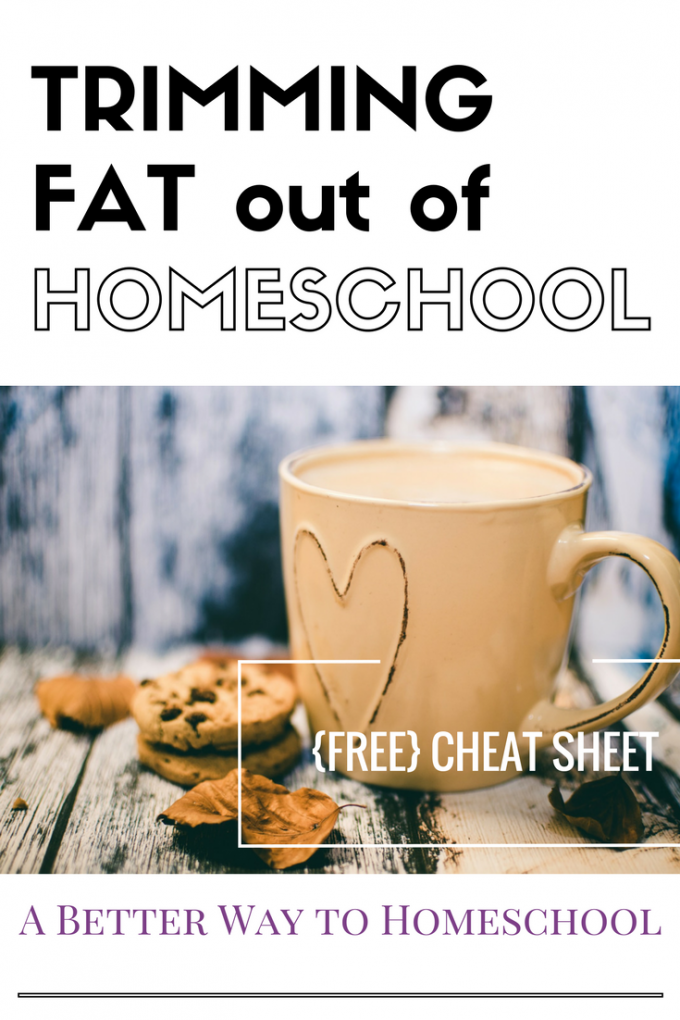 How to trim the fat out of your homeschool day