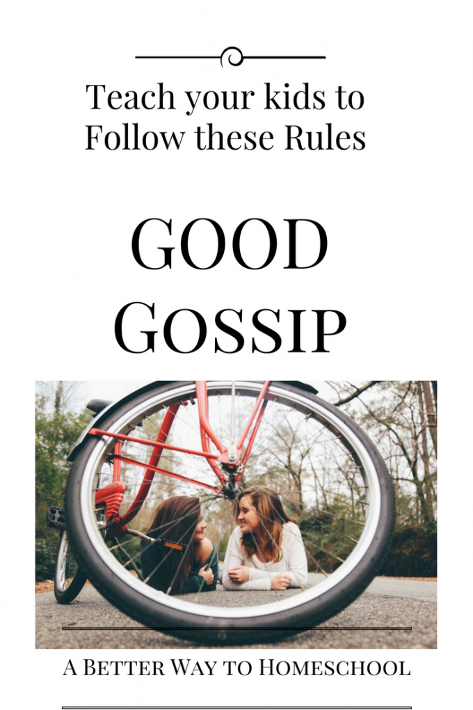"Teach your kids to follow these ""Good Gossip Rules"". {Freebie inside}"