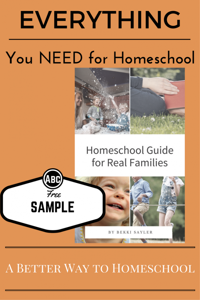 New Homeschooler? {DOwnload your FREE Sample} of your Homeschool Guide.