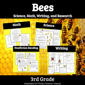 collage of worksheets about bees