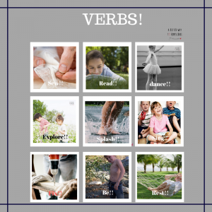 easy verb craft and activities