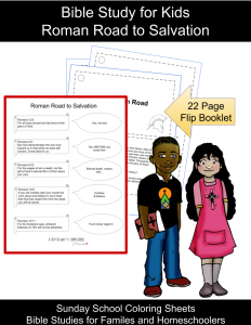 Sunday school coloring sheets and Bible studies for kids