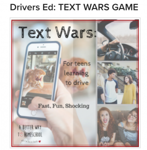 Teaching kids to drive should include a lesson about texting a driving. Text wars is a game that shows kids just how long a few seconds really is.