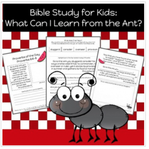 printable Bible study for kids k-3