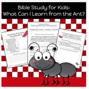 printable Bible study for kids k-3