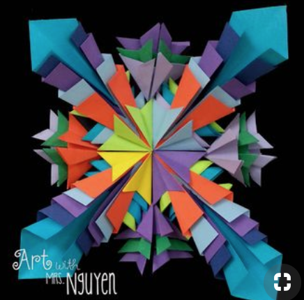 Math art: radial symmetry