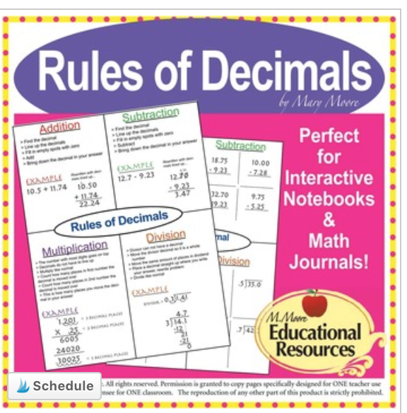 Teach decimals