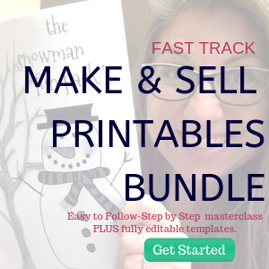 make and sell printables