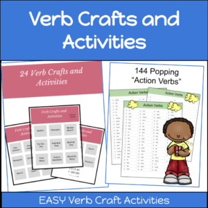 verb crafts and activities