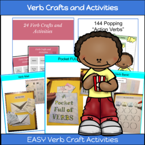 verb crafts for kids