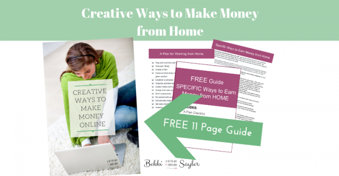 creative ways to make money from home