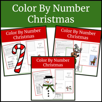 color by number Christmas