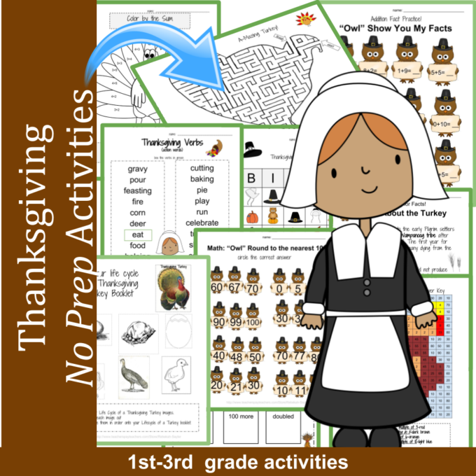thanksgiving activities for elementary