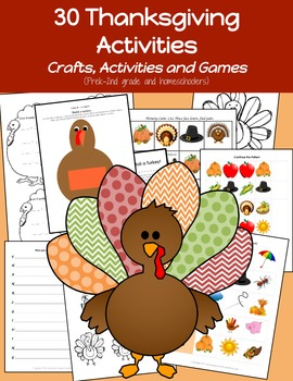 Thanksgiving Kindergarten activities