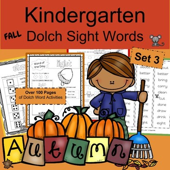 kindergarten fall worksheets