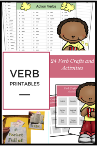verb craft and activities