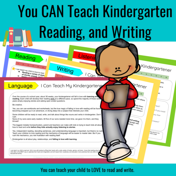 how to homeschool kindergarten language