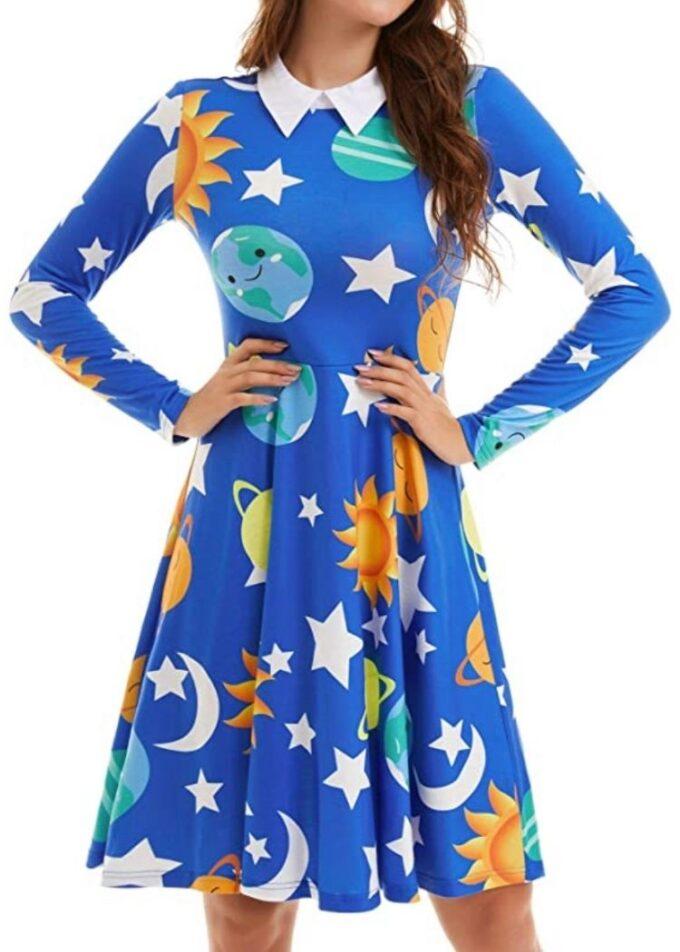 Cute teacher outfit, Solar system dress