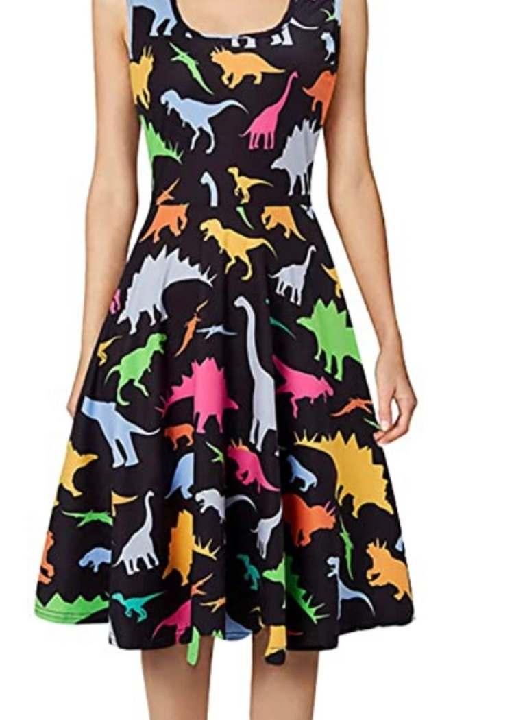 Cute teacher outfit, dinosaur dress