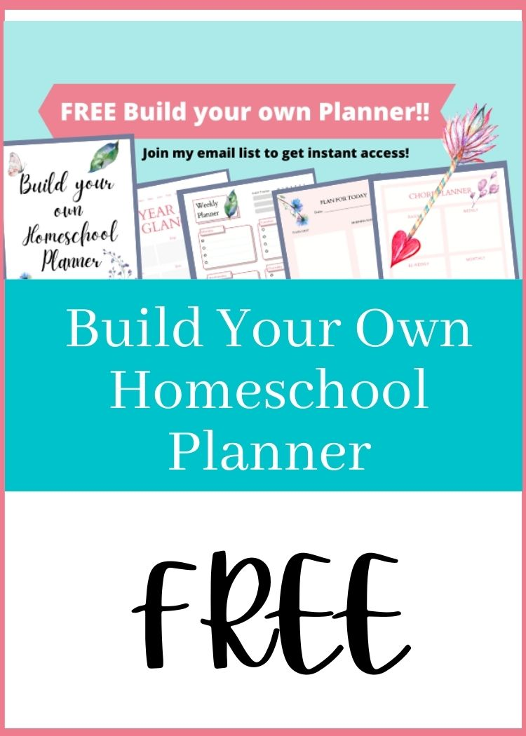 Build your own homeschool planner Free with collage of pages from planner