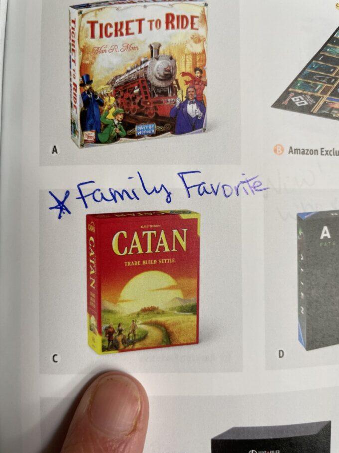 Family favorite Settlers of Catan