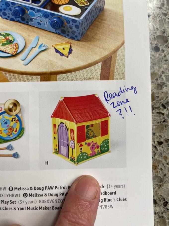 Blues clues playhouse tent