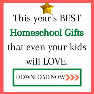 Text that reads This year's BEST homeschool gifts that even you kids will love.